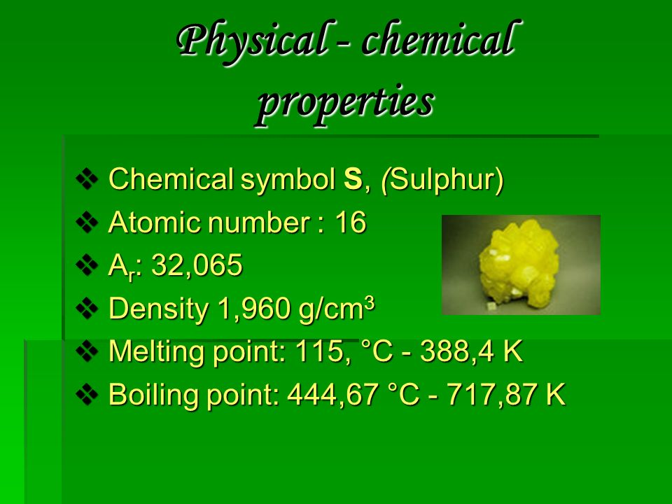 Sulfur Ppt Video Online Download