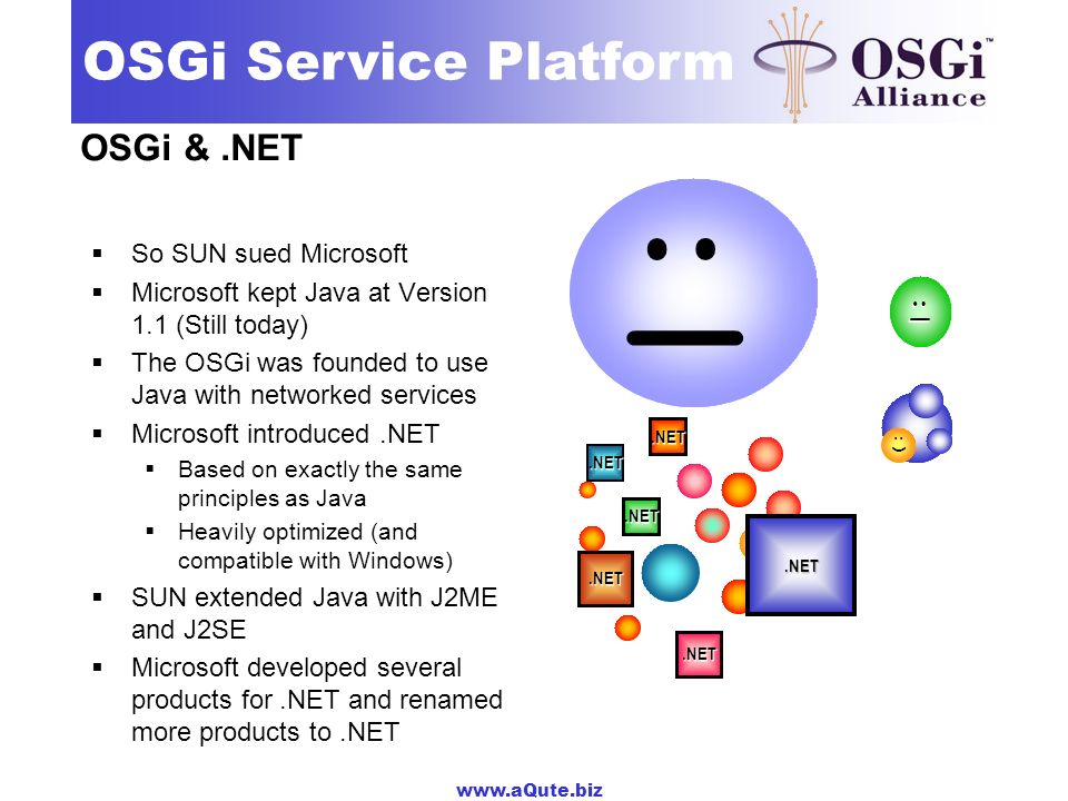 :( :| OSGi & .NET So SUN sued Microsoft