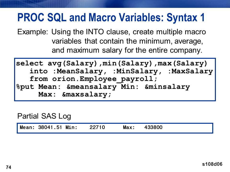 Chapter 8: Additional PROC SQL Features - ppt download