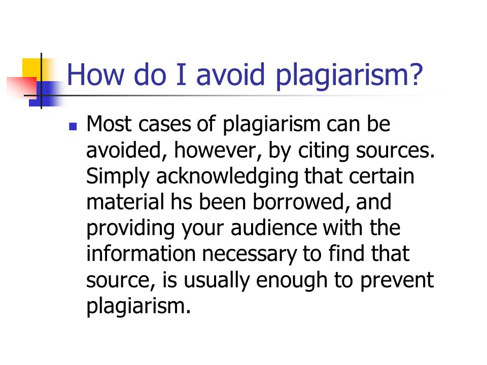 How do I avoid plagiarism