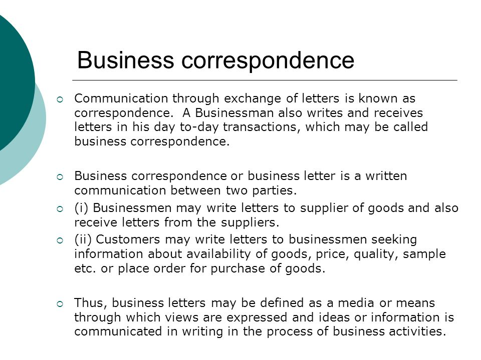 Business Correspondence Neslihan Kansu Yetkiner Ppt Download
