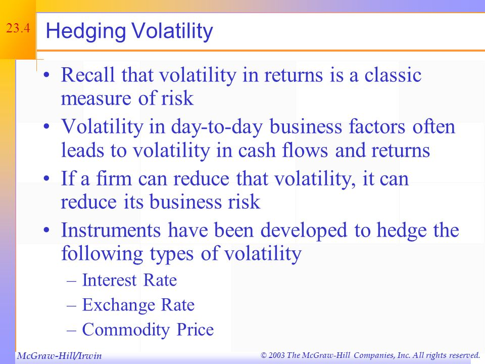 Recall that volatility in returns is a classic measure of risk