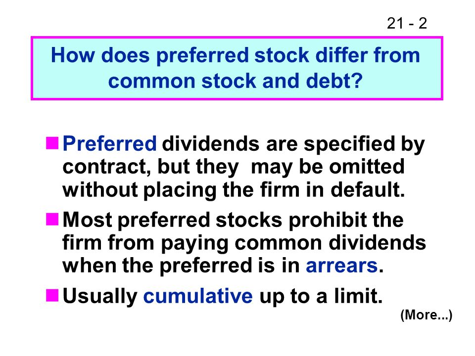 How does preferred stock differ from