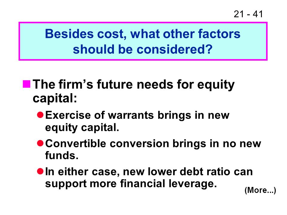 Besides cost, what other factors should be considered