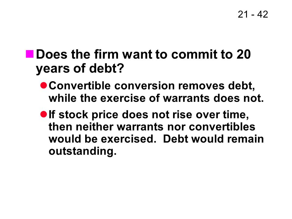 Does the firm want to commit to 20 years of debt
