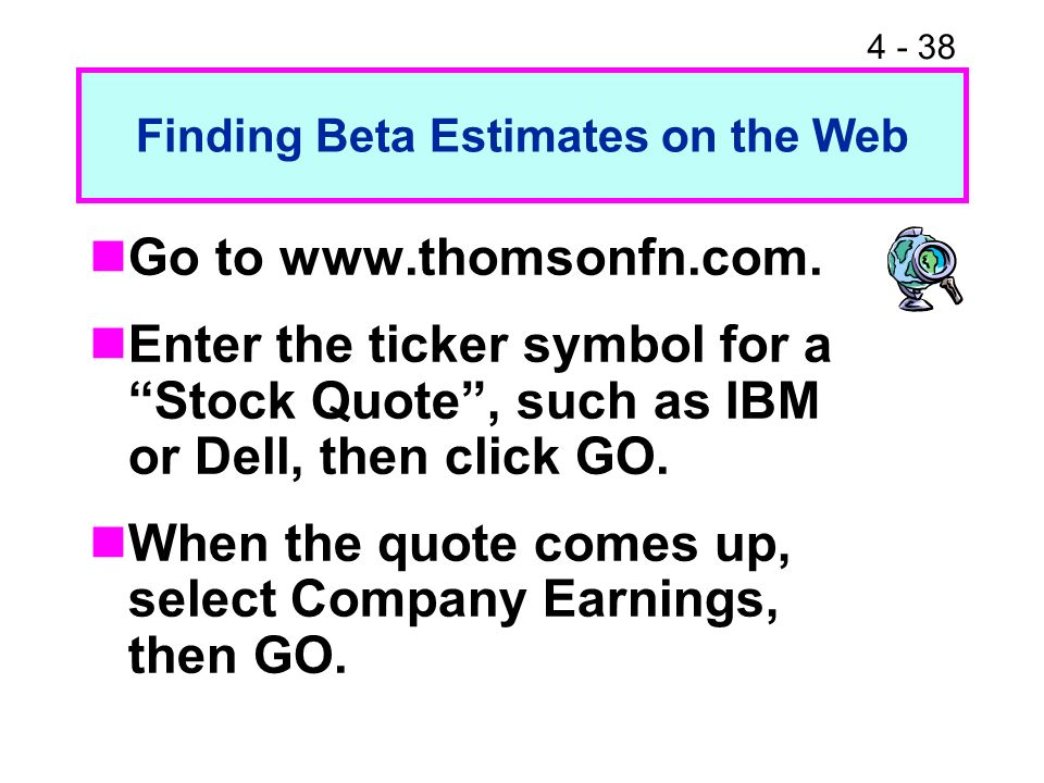 Finding Beta Estimates on the Web