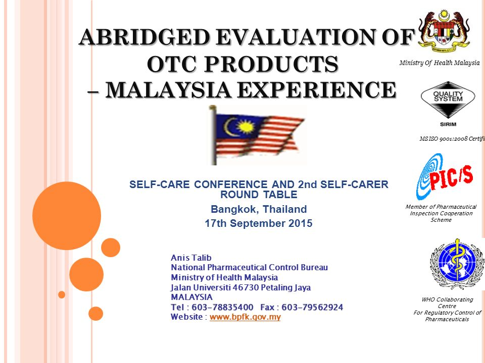 Abridged Evaluation Of Otc Products Malaysia Experience Ppt Download