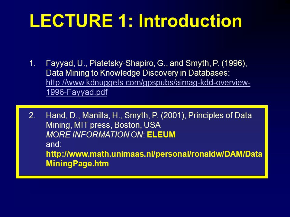Of pdf principles data mining