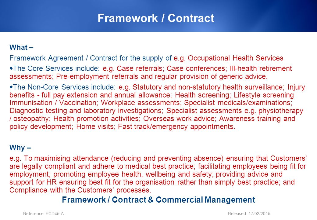 Insert Framework Contract Name Ppt Download