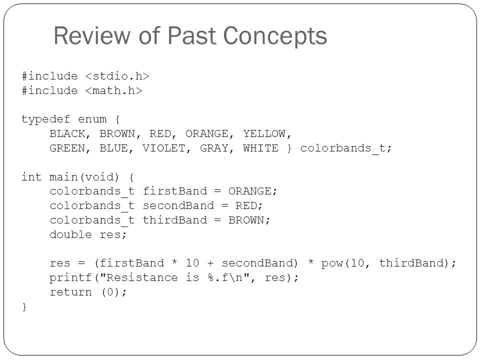 Review of Past Concepts