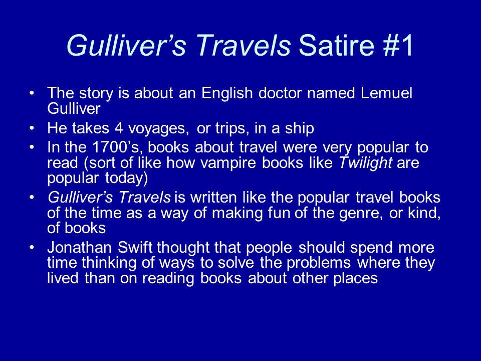 gullivers travels satire