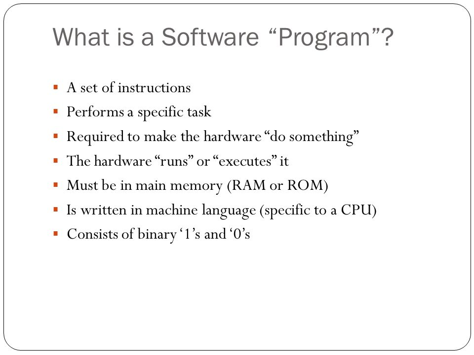 What is a Software Program