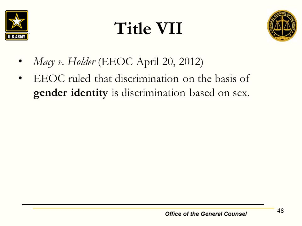 Emerging transgender issues and the law medical and legal update title vii macy v holder eeoc april 20 2012 publicscrutiny Choice Image