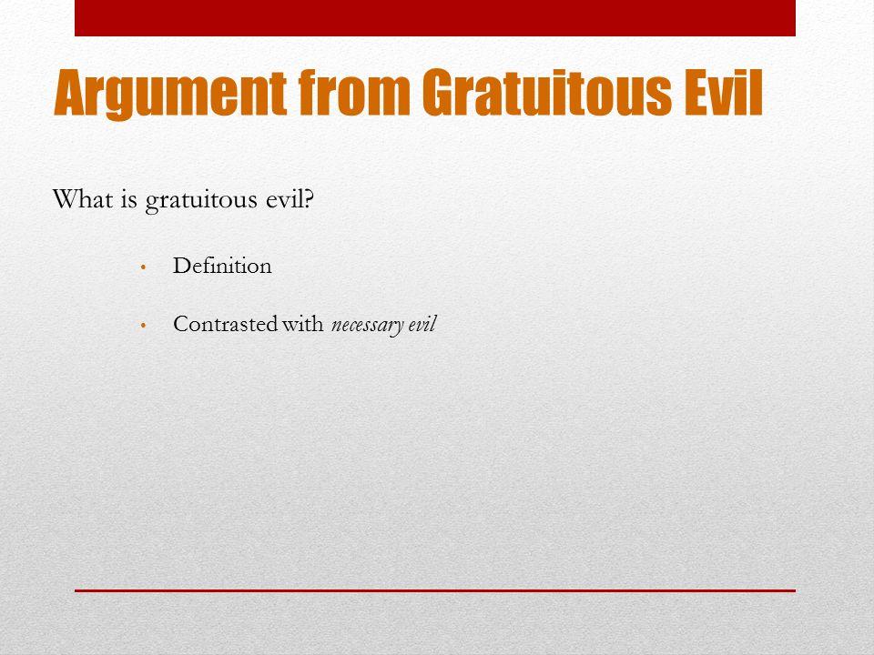 define necessary evil