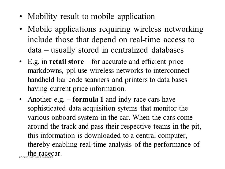 Mobility result to mobile application