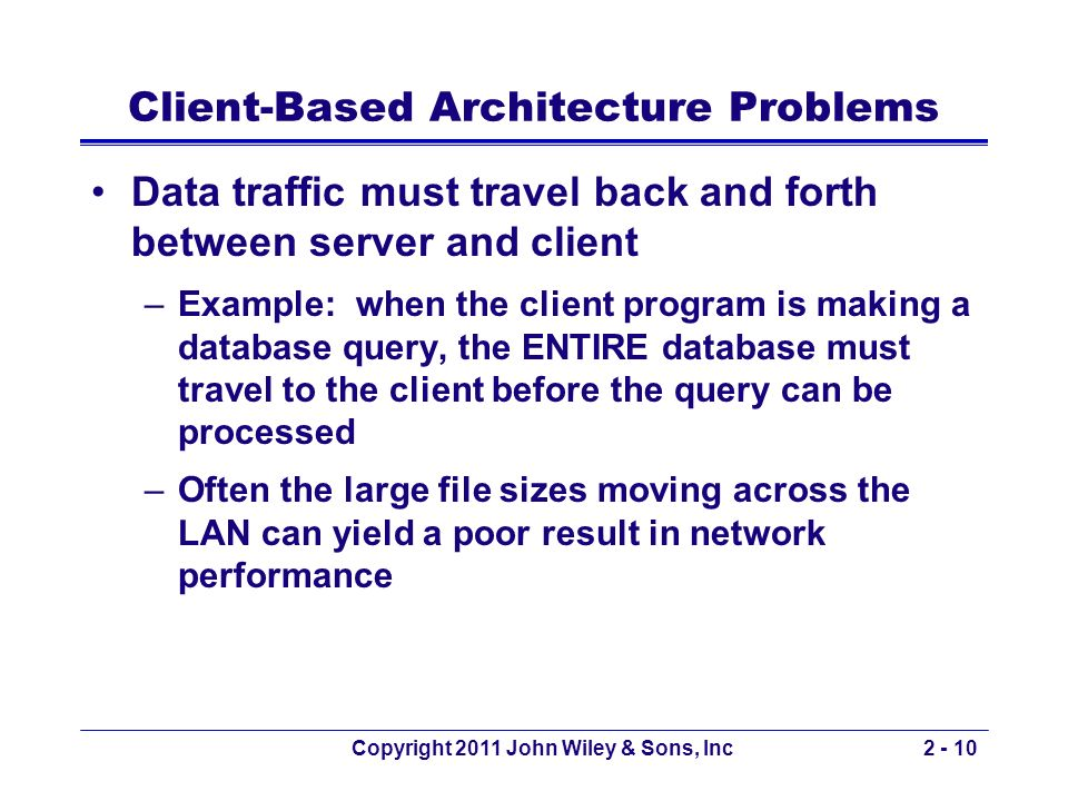 Client-Based Architecture Problems