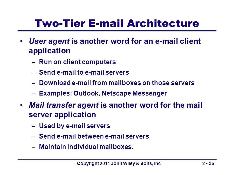 Two-Tier E-mail Architecture