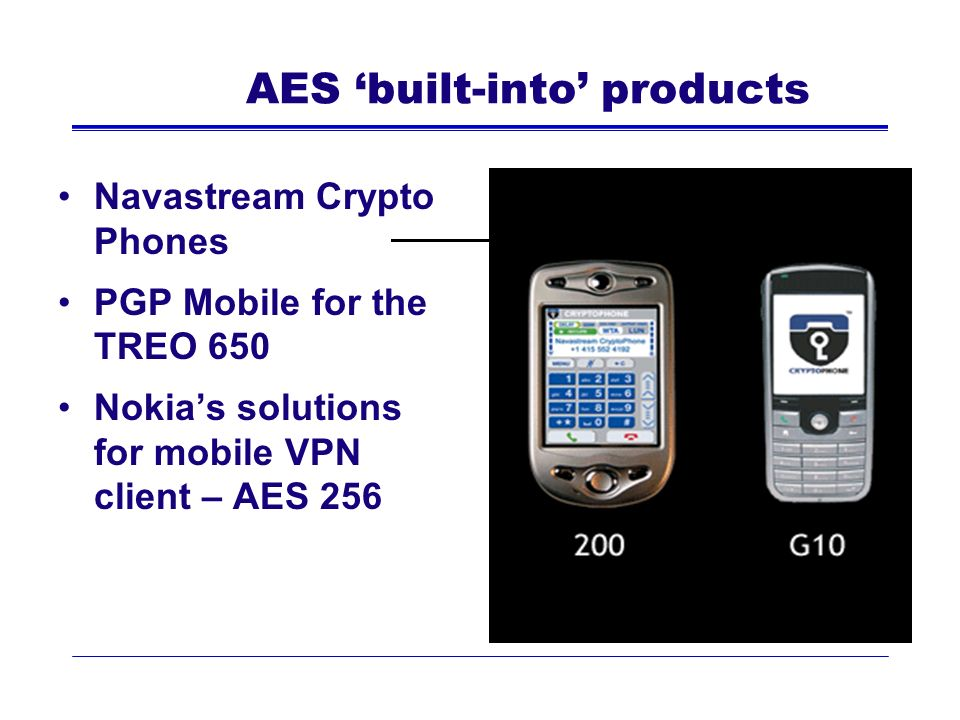 AES 'built-into' products