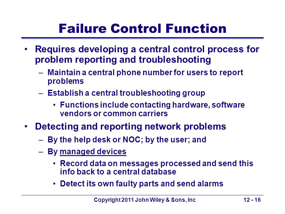 Failure Control Function