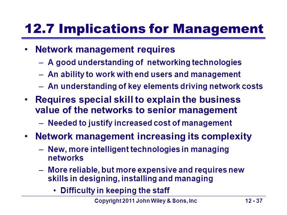 12.7 Implications for Management