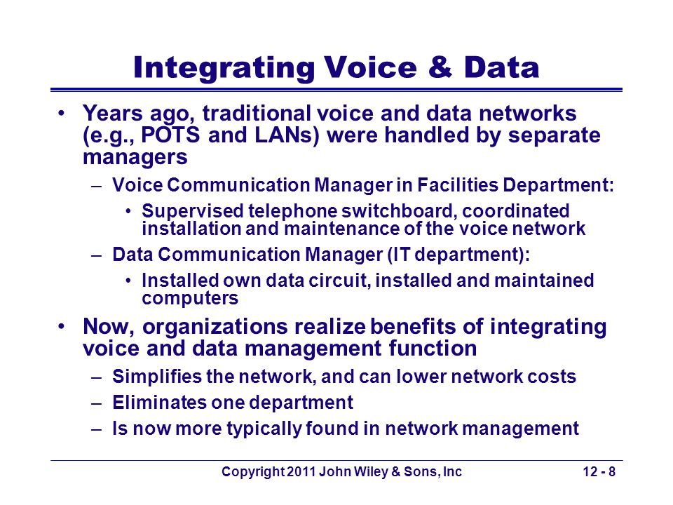 Integrating Voice & Data