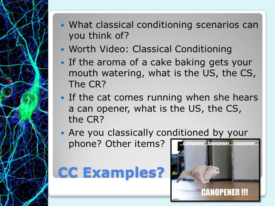 classical conditioning scenario examples