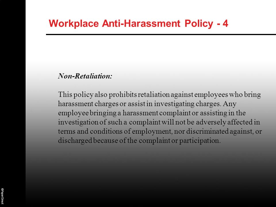 Workplace Anti-Harassment Policy - 4