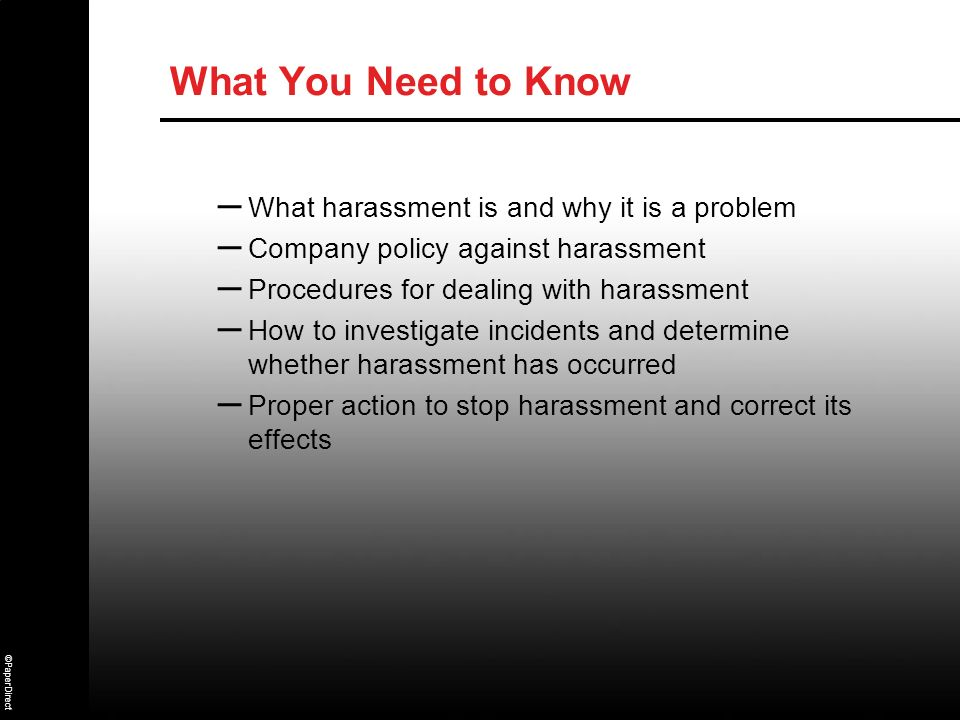 What harassment is and why it is a problem