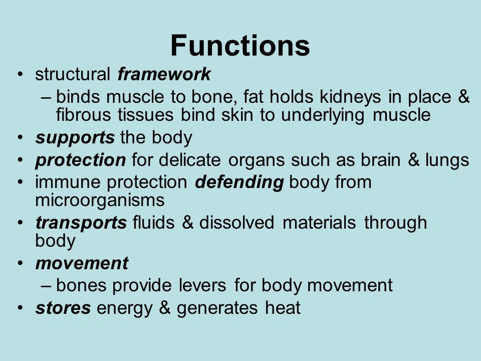 Functions structural framework