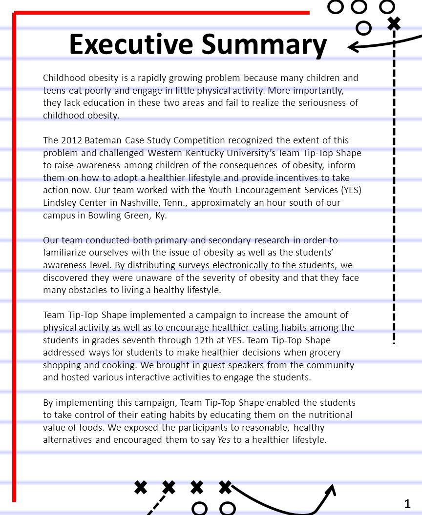 executive summary on childhood obesity essay 211 prevention of adult and childhood obesity  executive summary obesity is a chronic and multi-factorial disease and one of the most important causes of.