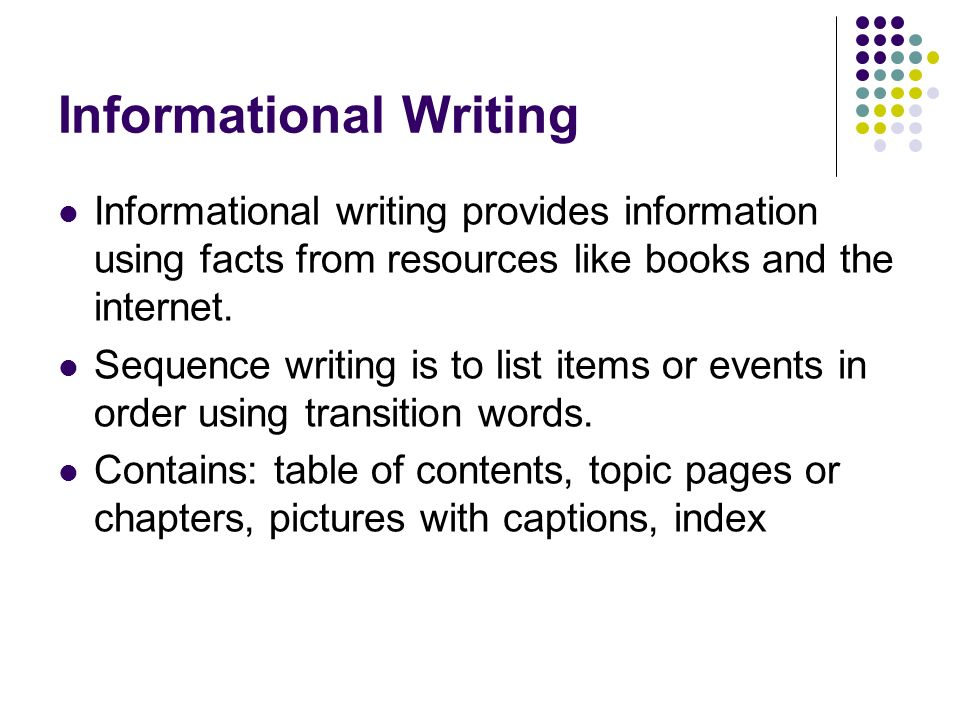 Informational Writing