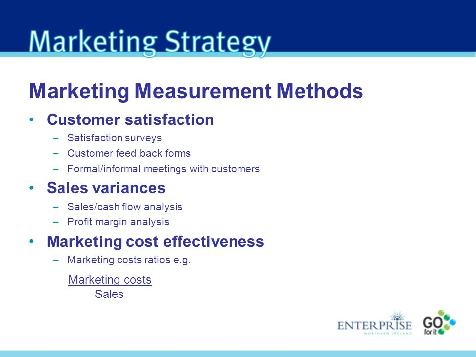 Marketing Measurement Methods