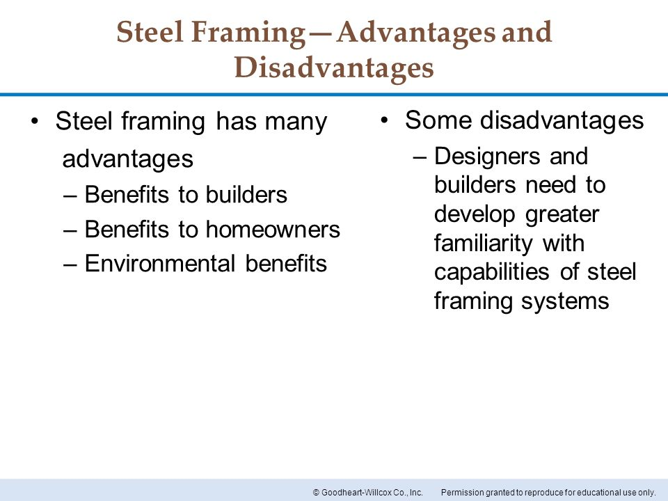 Steel Framing—Advantages and Disadvantages