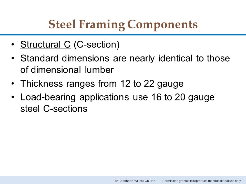 Steel Framing Components