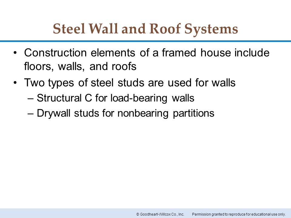 Steel Wall and Roof Systems