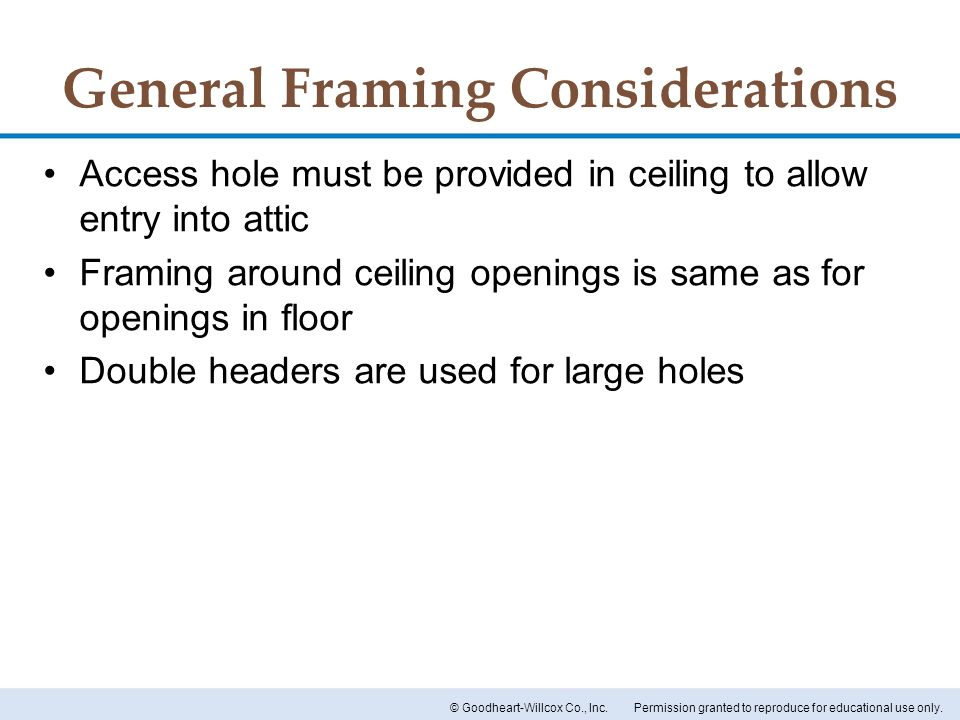 General Framing Considerations