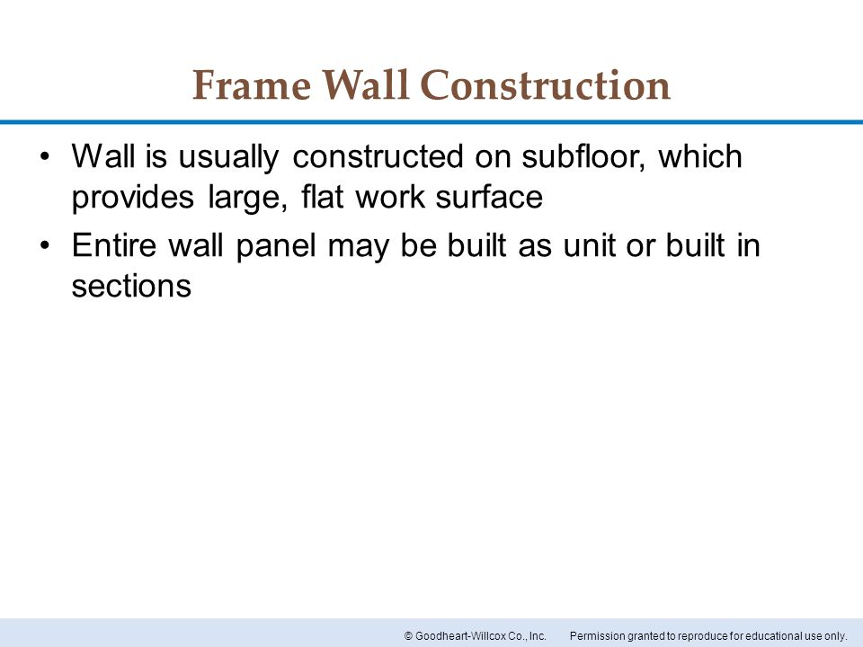 Frame Wall Construction