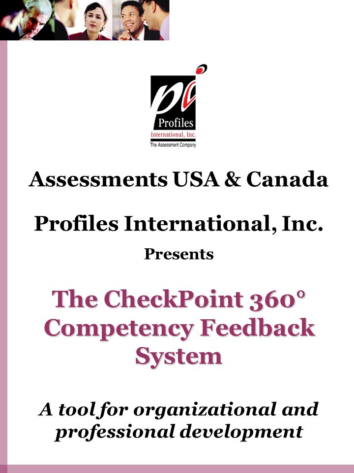 The CheckPoint 360° Competency Feedback System