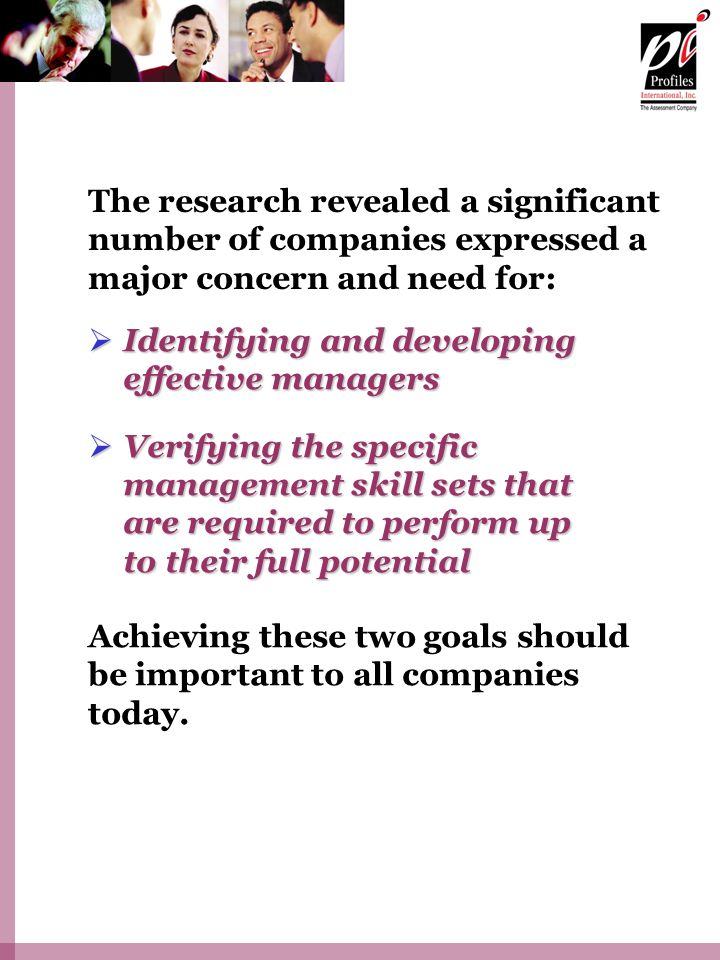 The research revealed a significant number of companies expressed a major concern and need for: