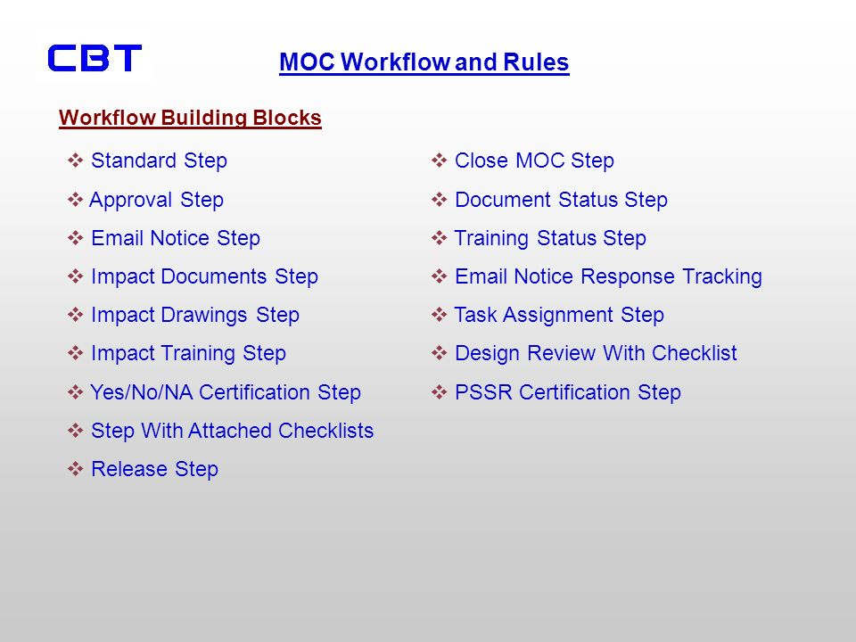 Workflow Building Blocks