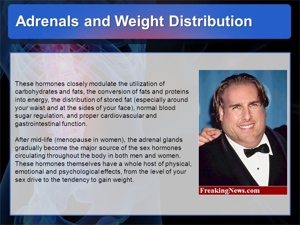 Adrenals and Weight Distribution
