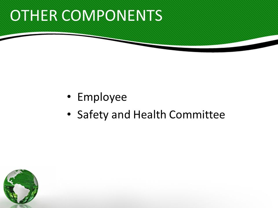 OTHER COMPONENTS Employee Safety and Health Committee