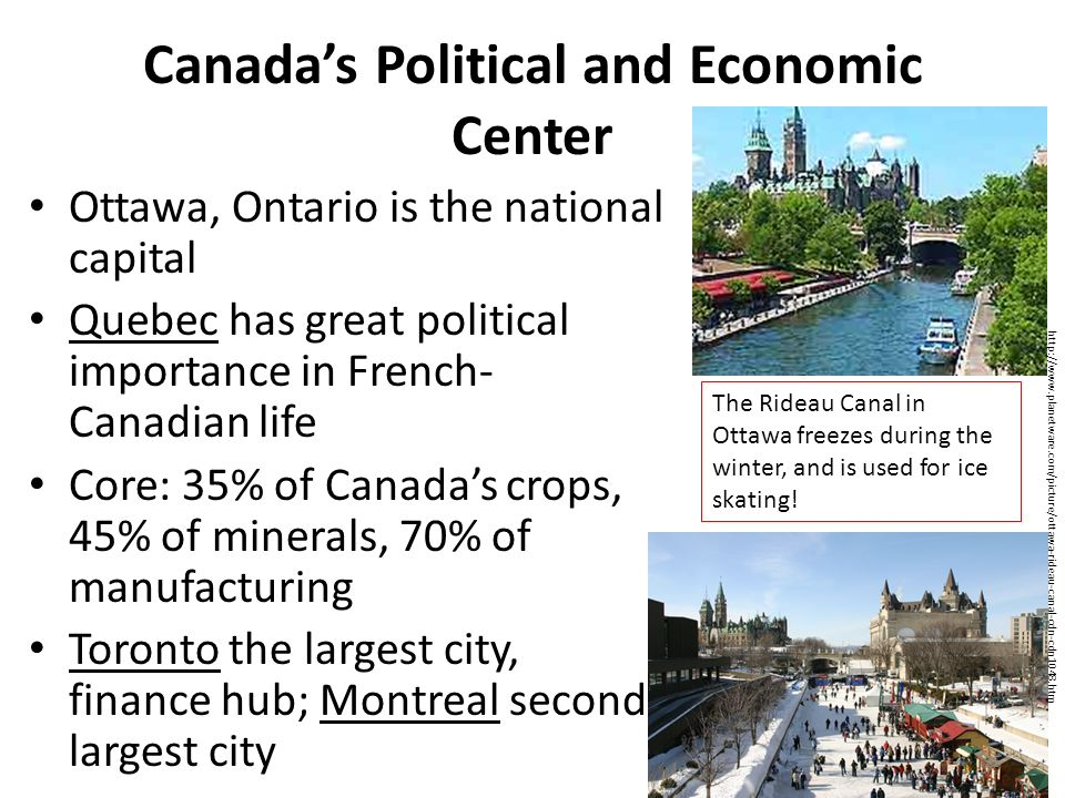 Canada's Political and Economic Center