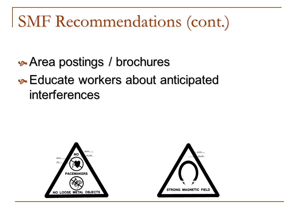 SMF Recommendations (cont.)