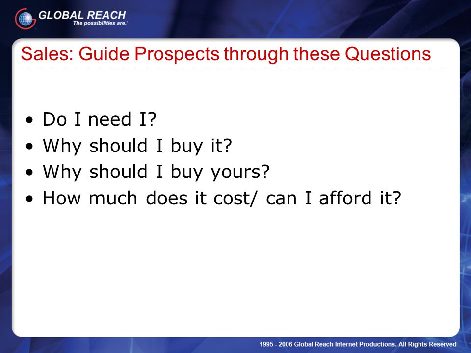 Sales: Guide Prospects through these Questions