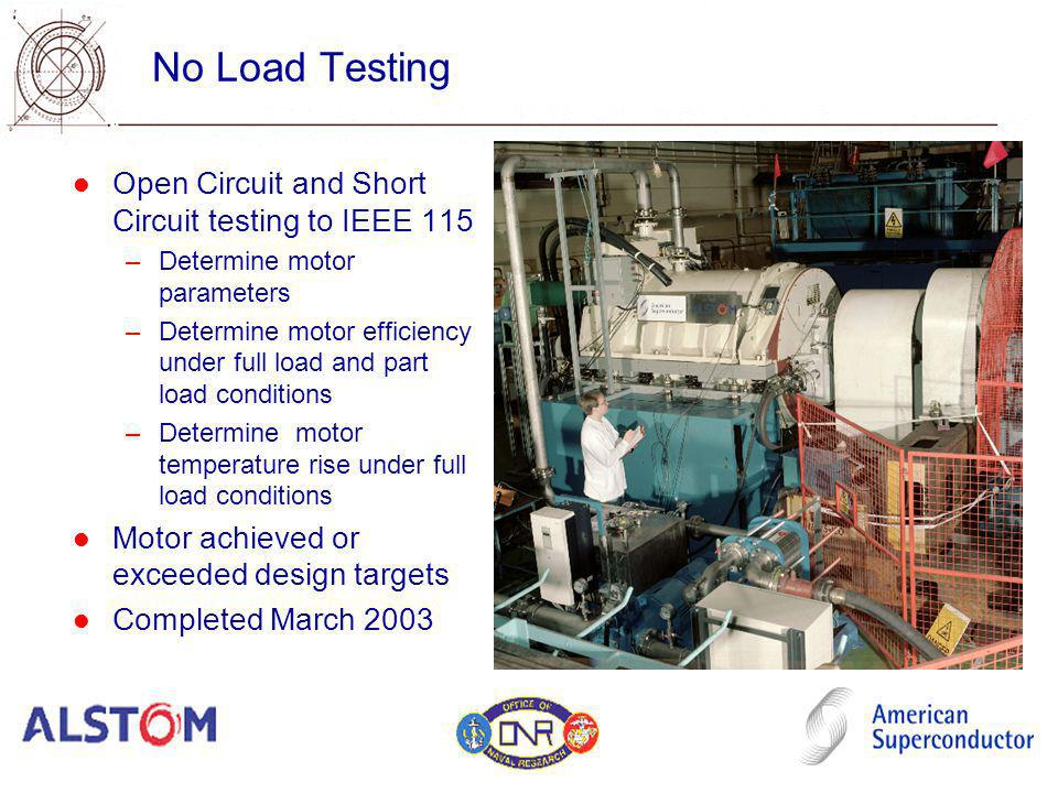 No Load Testing Open Circuit and Short Circuit testing to IEEE 115