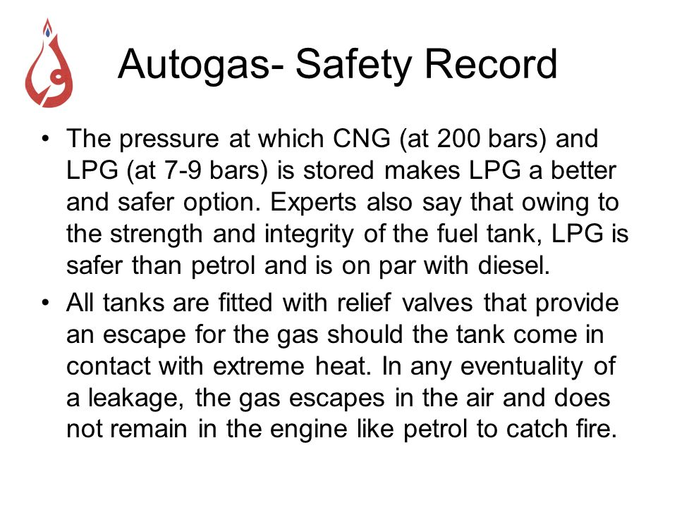 Autogas- Safety Record