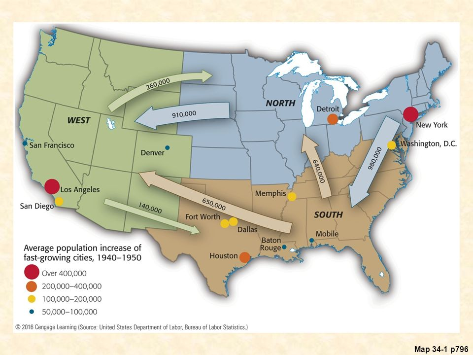 America in world war ii 1941 ppt download 24 map 341 internal migration in the united states during world war gumiabroncs Gallery