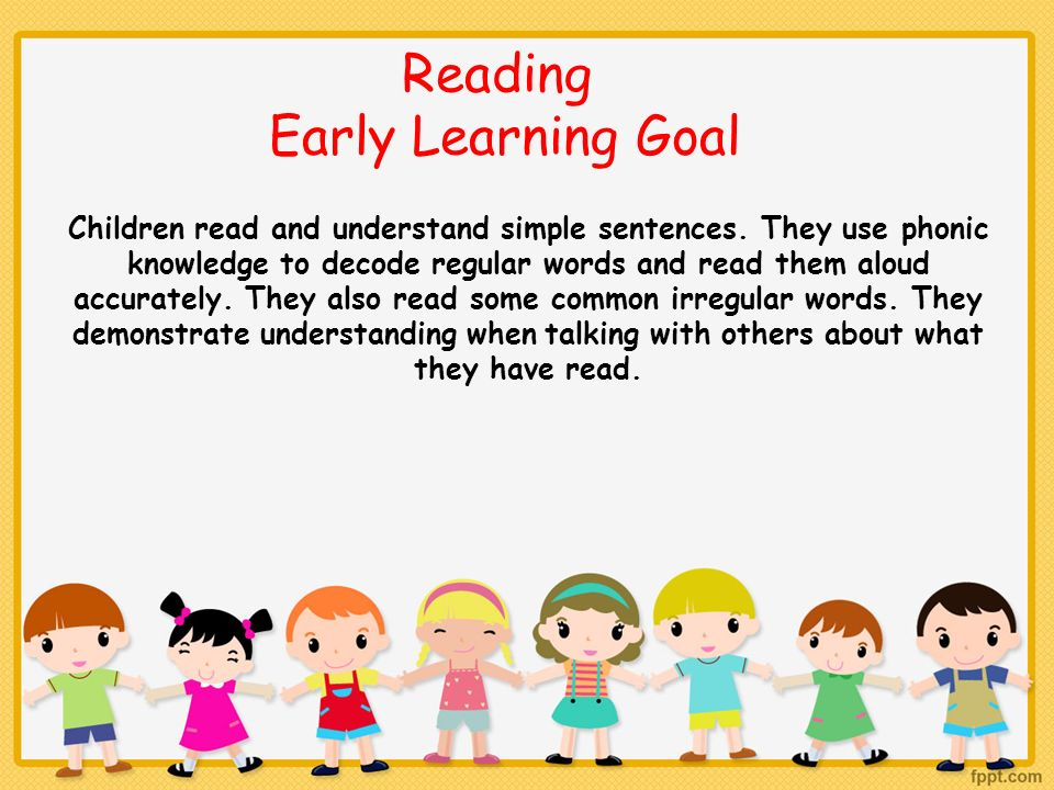 Reading Early Learning Goal