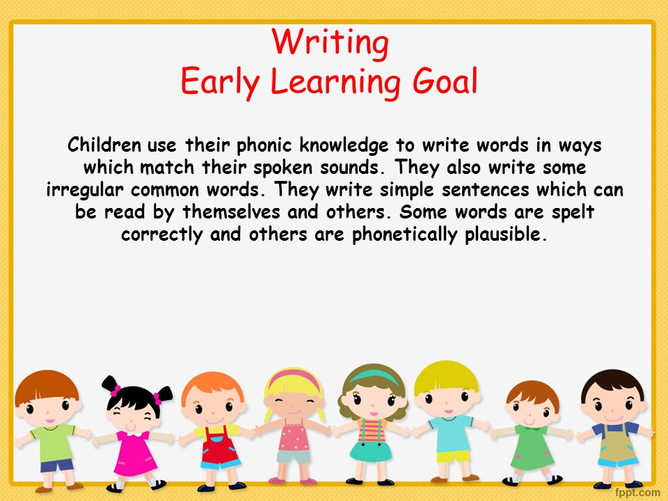 Writing Early Learning Goal